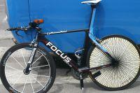 Le vélo de contre-la-montre Focus du Team Milram