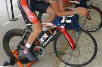 Le vélo de contre-la-montre Pinarello de Caisse d'Epargne