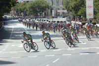 La Liquigas entoure Vincenzo Nibali dans Madrid