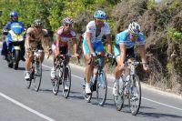Martin Pedersen, Jorge-Martin Montenegro, Vladimir Isaichev et Dominik Roels dans l'échappée du jour