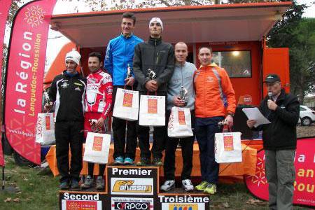 Le podium de la deuxième manche