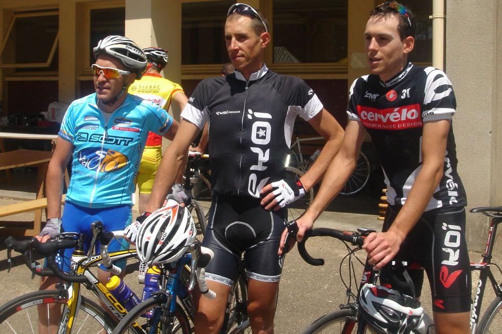 Le podium des 153 kilomètres de la Bourguignonne