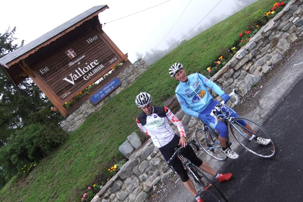 A Valloire, c'est le début de l'ascension du col du Galibier