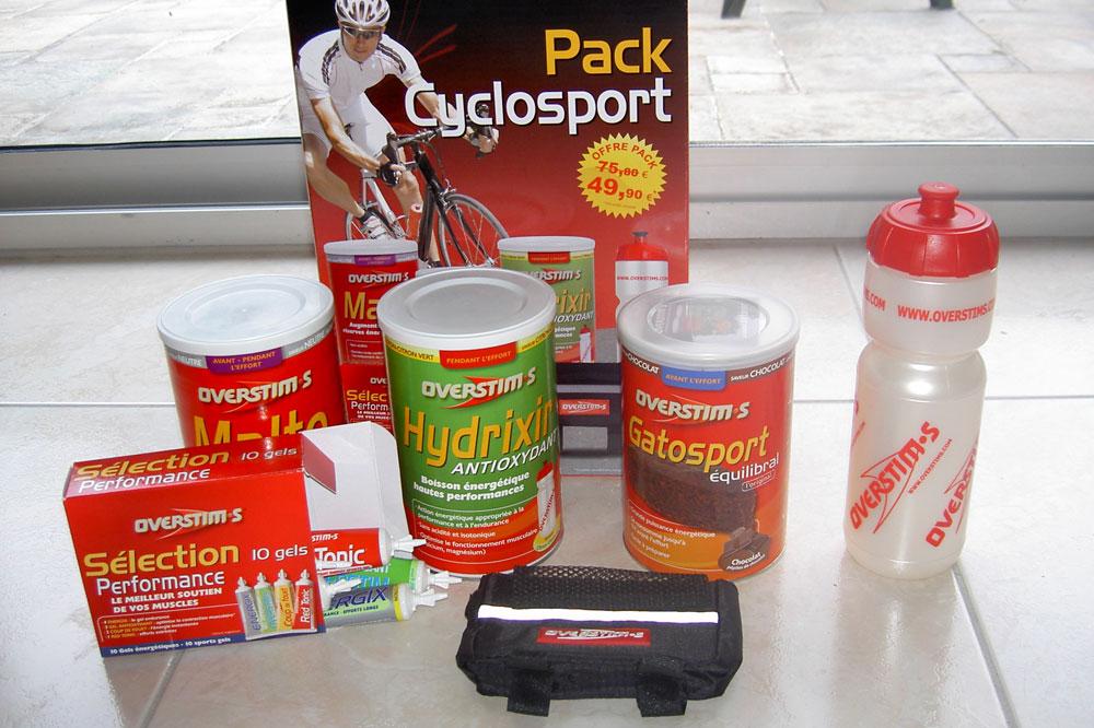 Le contenu du pack Cyclosport