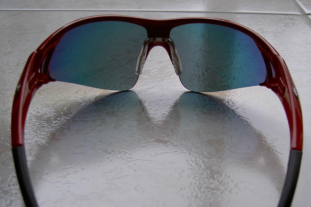 Les lunettes BBB Impact vues de l'intérieur