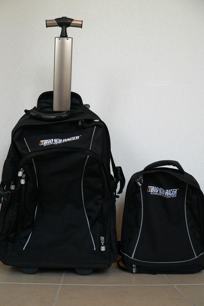 Le trolley Bio-Racer et son sac à dos