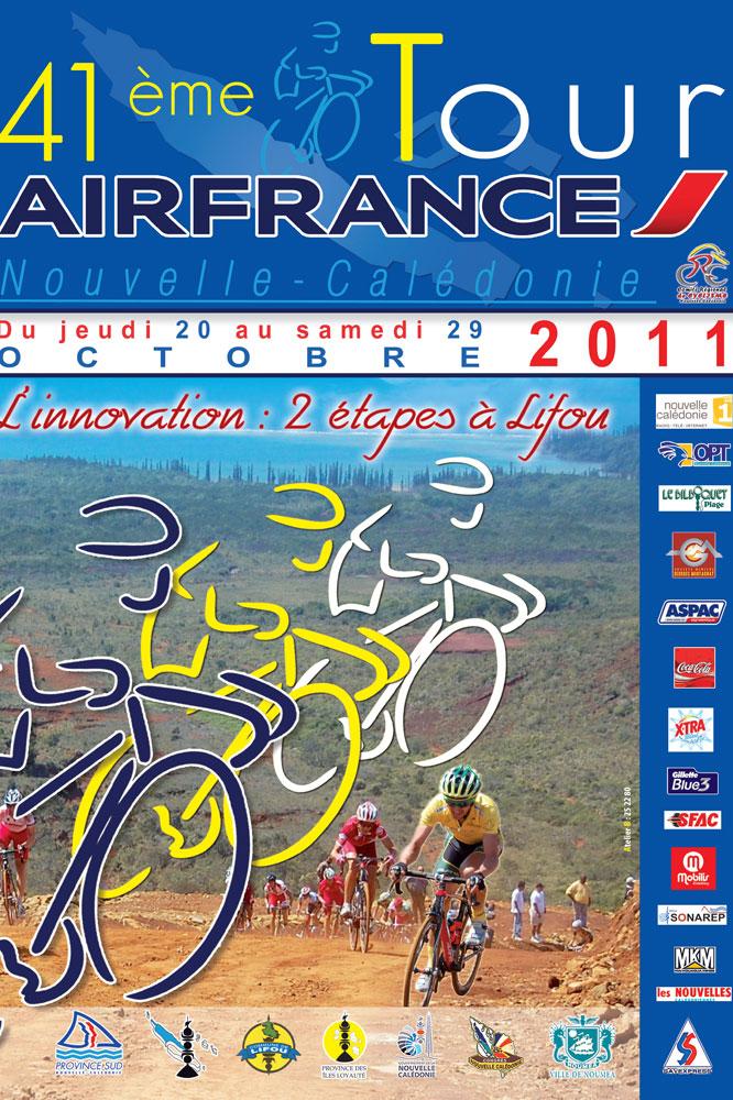 L'affiche du Tour de Nouvelle-Calédonie 2011