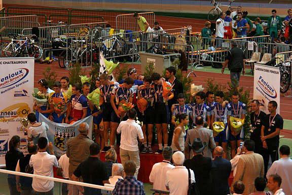 Le podium final de la Coupe de France des départements Cadets