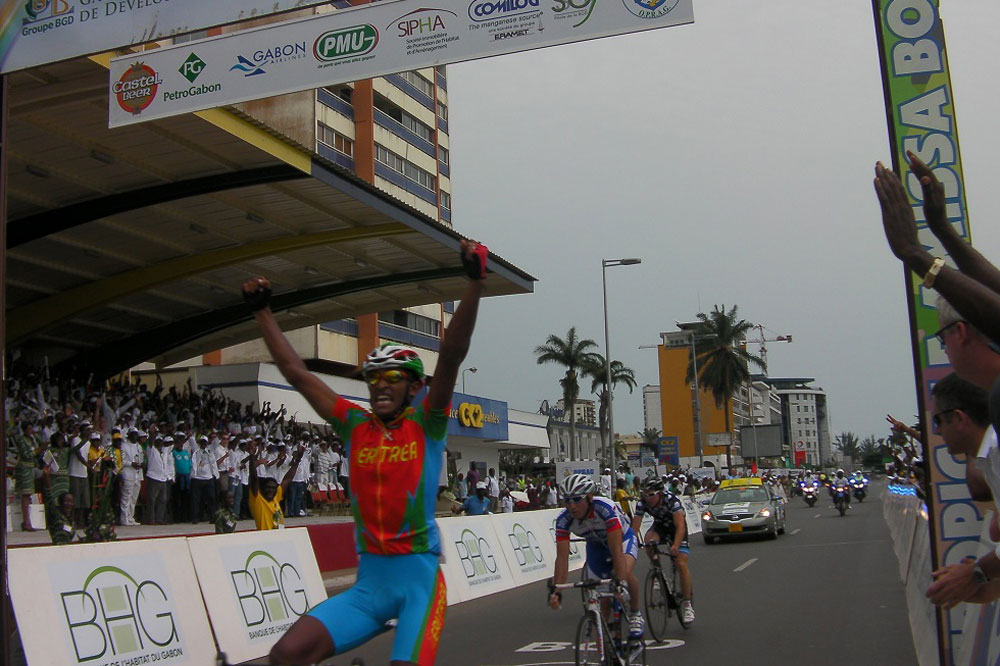 Victoire de Natnael Berhane à Libreville