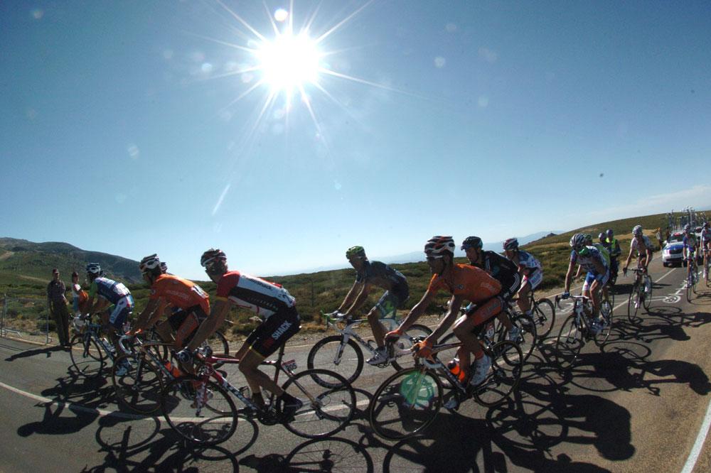 Le soleil cogne sur la Vuelta