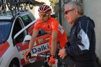 Cyrille Guimard coache ses coureurs
