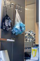L'espace lingerie du bus atelier de Saxo Bank-SunGard
