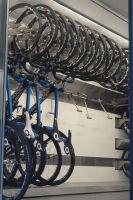 L'espace pour ranger les vélos chez Sky
