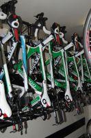 Les vélos Colnago bien rangés du Team Europcar