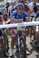 Julien Absalon concentré avant le départ