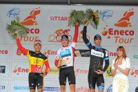 Le podium final de l'Eneco Tour