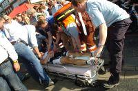 Les secours s'affairent autour de Sjef De Wilde