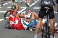 Leonardo Duque et Yoann Offredo dans une situation coquasse après la ligne