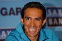 Alberto Contador radieux