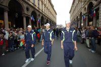 Vincenzo Nibali s'avance vers la Piazza Castello