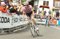 Alberto Contador donne l'assaut dans les derniers hectomètres