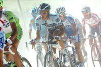 Alberto Contador dans la poussière des strade bianche