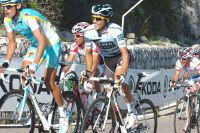 Alberto Contador grimace