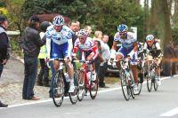Mickaël Delage encore échappé dans les Flandres, ici avec Rony Martias
