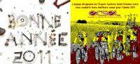 L'équipe dirigeante de l'Espoir Cycliste Saint Etienne Loire vous souhaite leurs meilleurs vœux pour l'année 2011