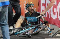 Davide Appollonio récupère de son sprint