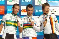 Le podium du Championnat du Monde 2011