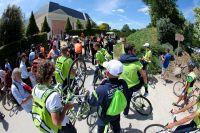La formation Liquigas-Cannondale en route pour le Puy du Fou
