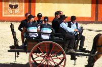 Le Team Leopard-Trek arrive dans une carriole !