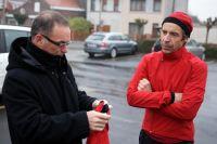 Bernard Hinault et Gilbert Duclos-Lassalle se prépare pour la reconnaissance
