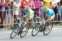 Daniel Oss lance le sprint pour Peter Sagan