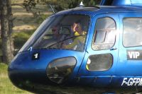 Thomas Voeckler prend l'hélicoptère pour redescendre du Plateau de Beille