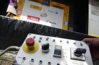 Le boîtier de contôle de la cérémonie protocolaire du Tour de France