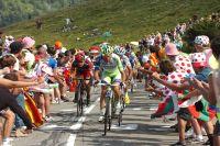 Ivan Basso emmène le groupe des favoris vers le Plateau de Beille