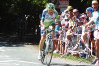 Ivan Basso en difficulté lors de la 17ème étape du Tour de France