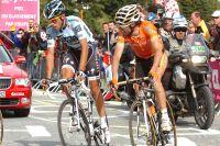 Alberto Contador à l'attaque sur la route de l'Alpe d'Huez