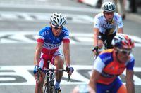 Sylvain Chavanel en souffrance sur les routes du Tour de France
