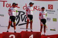 Le podium final du Tour de Rio