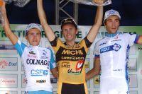 Pozzovivo et Pinot entourent Rebellin sur le podium des Trois Vallées Varésines