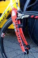 La fourche avant du vélo de Stijn Devolder