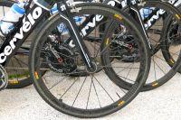 La roue avant du Cervélo de la formation Garmin-Cervélo