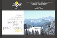 Les voeux de la station des Gets, où auront lieu les Championnats de France de VTT les 14 et 15 juillet