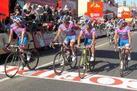 L'équipe Lampre-ISD se soucie de son leader Michele Scarponi