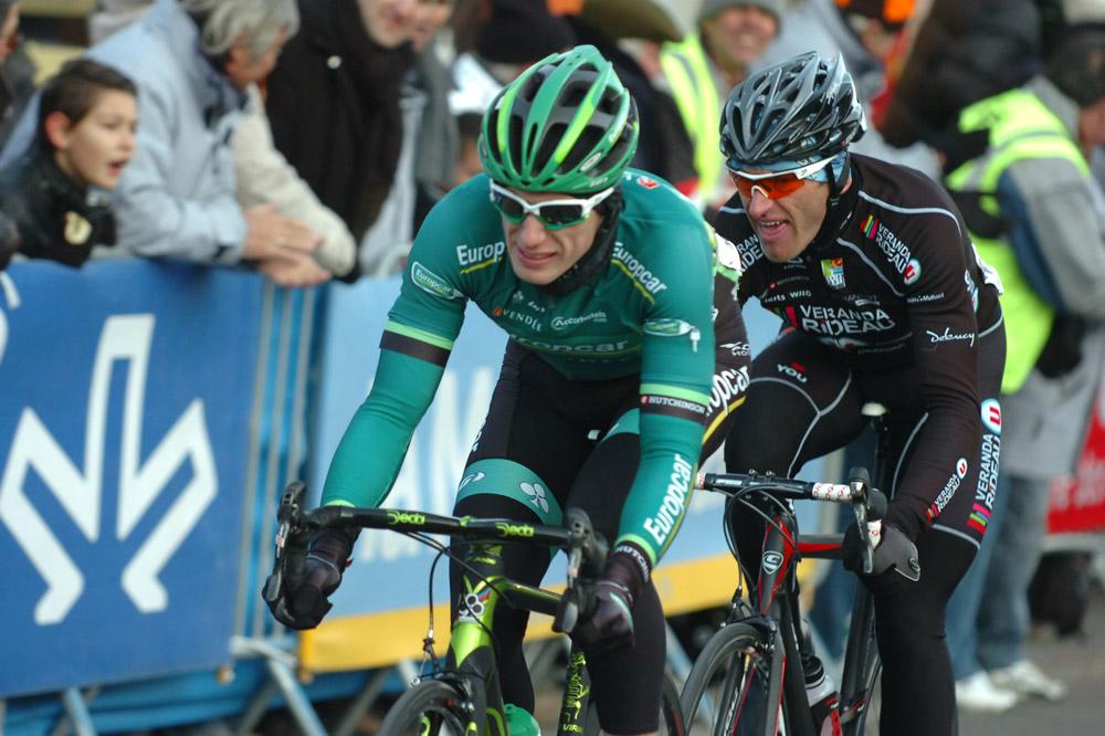 Pierre Rolland et Franck Vermeulen livrent leurs dernières forces dans la bataille