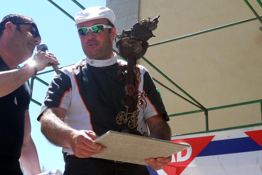 Le trophée en chocolat, rien à voir avec la médaille du même métal !