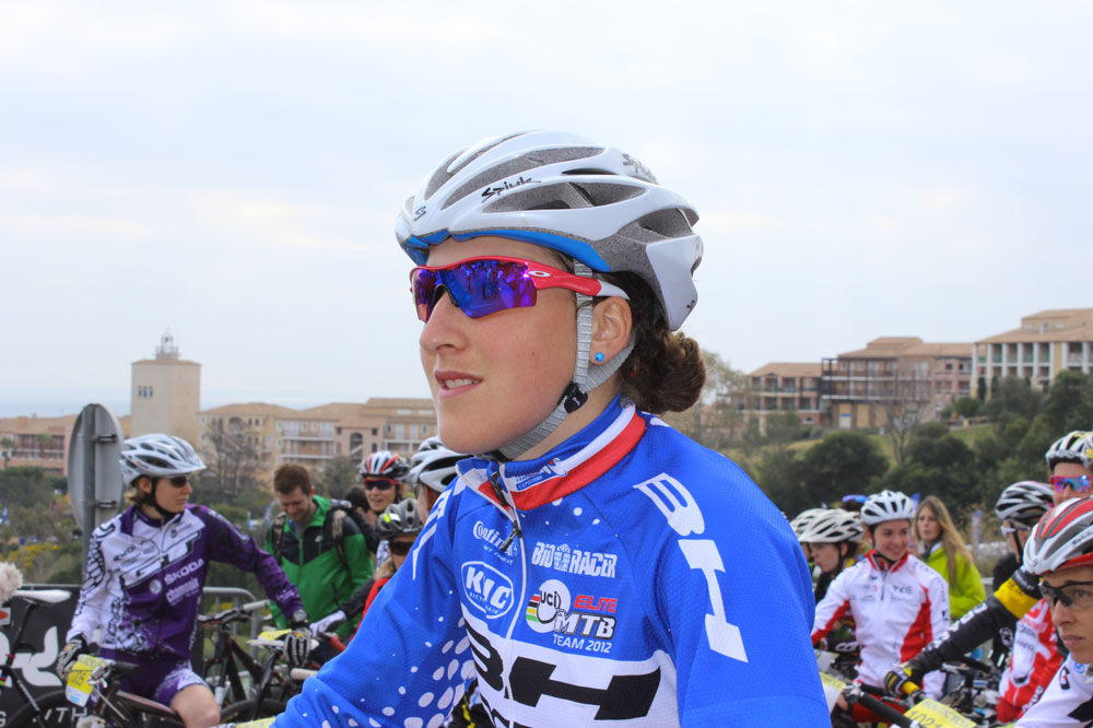 Julie Bresset au départ